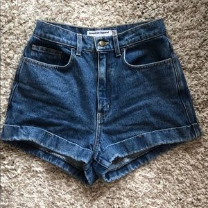 American Apparel High Waisted Jean Shorts Size 27